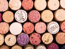 Wino korki jako tło Obraz Stock