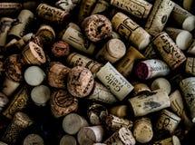 Wino Korkowa kolekcja Fotografia Royalty Free