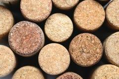 Wino korkuje makro- zbliżenie Zdjęcie Royalty Free