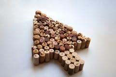 Wino korkuje myszy strzała ikonę zdjęcie royalty free