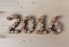Wino korkuje zbliżenie 2016 obraz stock