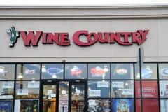Wino kraju sklep Zdjęcia Stock