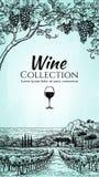 Wino listy projekta szablon royalty ilustracja