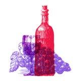 Wino loga projekta wektorowy szablon winorośl lub royalty ilustracja