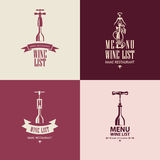Wino menu Obraz Stock