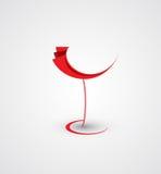 Wino menu karcianego projekta tło Zdjęcie Stock