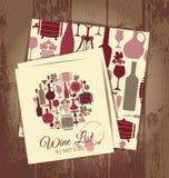 Wino menu karta Fotografia Royalty Free