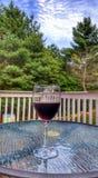 Wino na stole Zdjęcie Stock