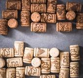 Wino naturalnych korków zamknięty widok Obrazy Stock