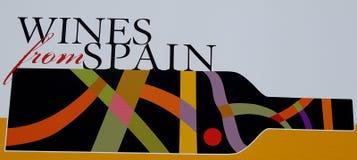 Wino od Spain plakata Zdjęcia Royalty Free