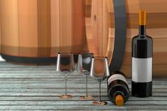 Wino odpłaca się Fotografia Stock
