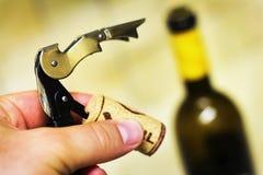 Wino otwieracz Obraz Royalty Free