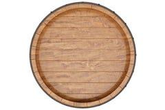 Wino, piwo, whisky, drewniany lufowy odgórny widok odosobnienie na białym tle ilustracja 3 d obraz royalty free