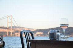 Wino przy Bosphorus Obraz Stock