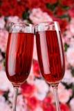 wino, róże Fotografia Royalty Free
