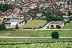 Wino region Burgundy Fotografia Royalty Free