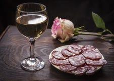 Wino Riesling w szkle Zdjęcie Royalty Free