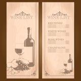 Wino rocznika rama Ilustracji