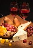 wino, ser Zdjęcia Royalty Free