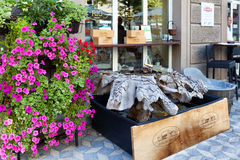 Wino sklep Ljubljana Slovenia Zdjęcie Stock