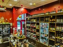 Wino sklep w Moskwa zdjęcie royalty free