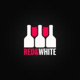 Wino szklanej butelki projekta tło Fotografia Royalty Free