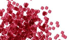 Wino szklani bloki przypadkowo ustawiający w przestrzeni z białym tłem Zdjęcie Stock