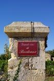 Wino temat grands vins De Bordo zdjęcia stock