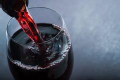 Wino upadek w szkle Obraz Royalty Free