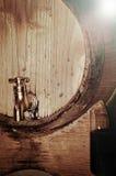 Wino w baryłce Fotografia Stock