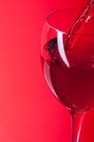 Wino w szkło Zdjęcie Stock