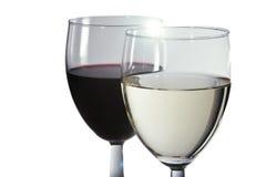 Wino w szkłach Obraz Royalty Free