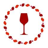 Wino wianek i szk?o royalty ilustracja