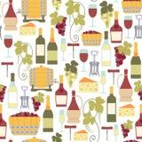 Wino wzór royalty ilustracja