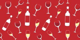 Wino wzór Fotografia Stock