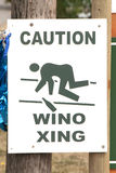 Wino Xing. Wino crossing sign outside of a winery tasting room in the southern Willamette Valley wine growning region royalty free stock photo