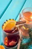 Wino z pikantność i owoc Obrazy Stock