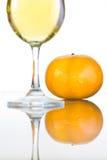 Wino z pomarańczami Obrazy Royalty Free