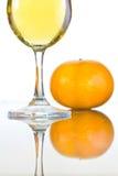 Wino z pomarańczami Zdjęcie Royalty Free