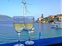 Wino z widokiem Zdjęcie Royalty Free