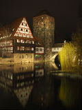Wino zajezdnia w starym miasteczku Nuremberg Zdjęcia Stock