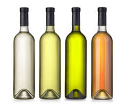 Wino zieleni butelka Fotografia Royalty Free
