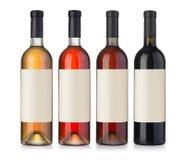 Wino zieleni butelka Zdjęcia Stock