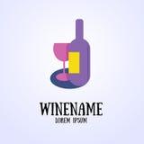 Wino znak Ilustracja Wektor