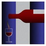 Winograd butelka z szkłem winograd Obrazy Royalty Free