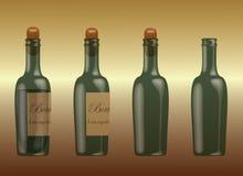 Winograd butelki Zdjęcie Royalty Free