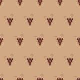 Winogradu bezszwowy deseniowy tło Zdjęcie Stock