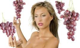 winogrona blondynkę czerwony Obraz Stock