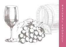 Winogrona i wino Fotografia Royalty Free