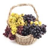 Winogrona kosz Zdjęcia Stock